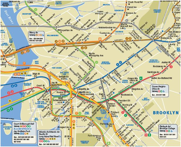 mta subway map of brooklyn