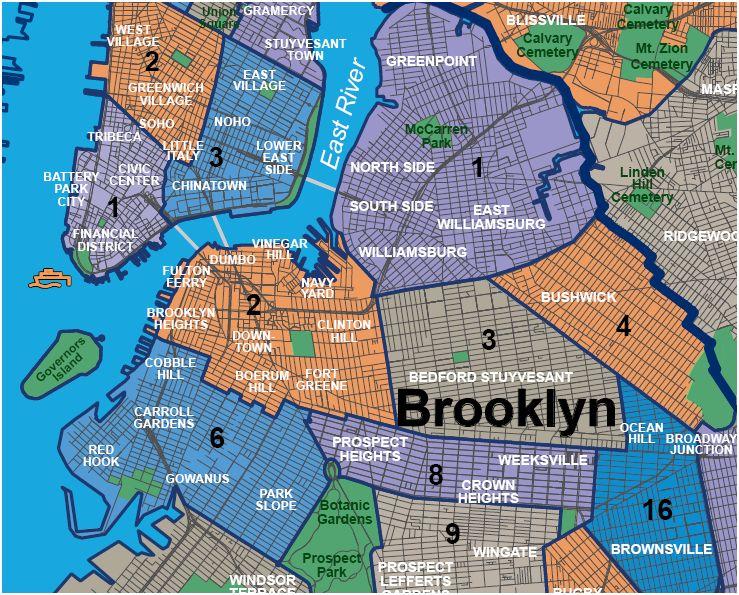 Brooklyn Neighborhoods With Subway Map.Brooklyn Neighborhood Map Bluclover Com