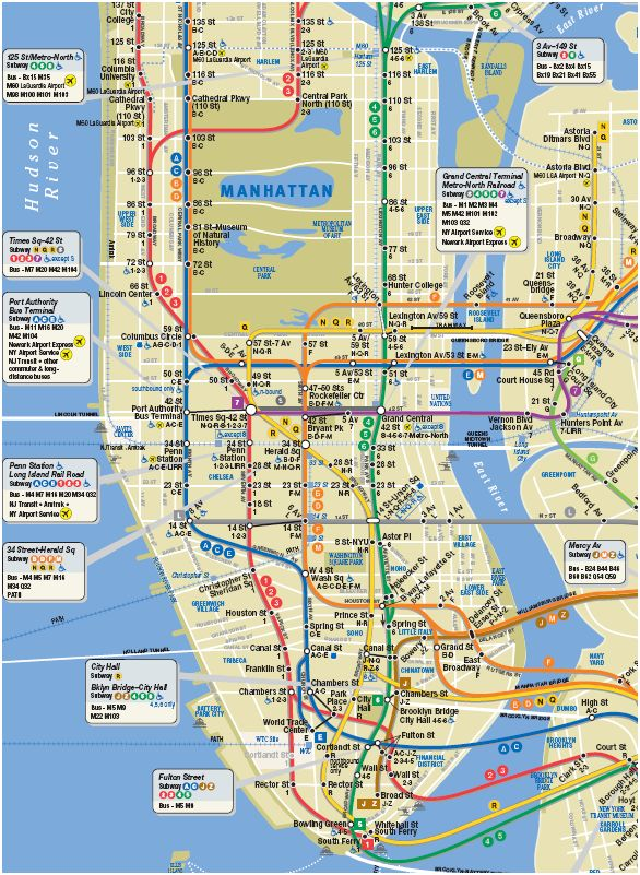 subway map manhattan montana map