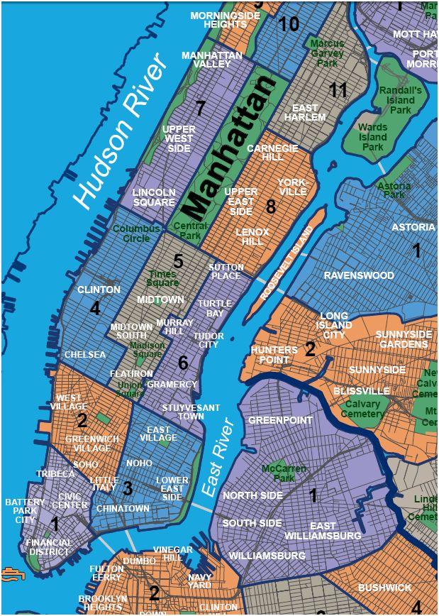 map of manhattan and brooklyn neighborhoods Maps Bluclover Com map of manhattan and brooklyn neighborhoods