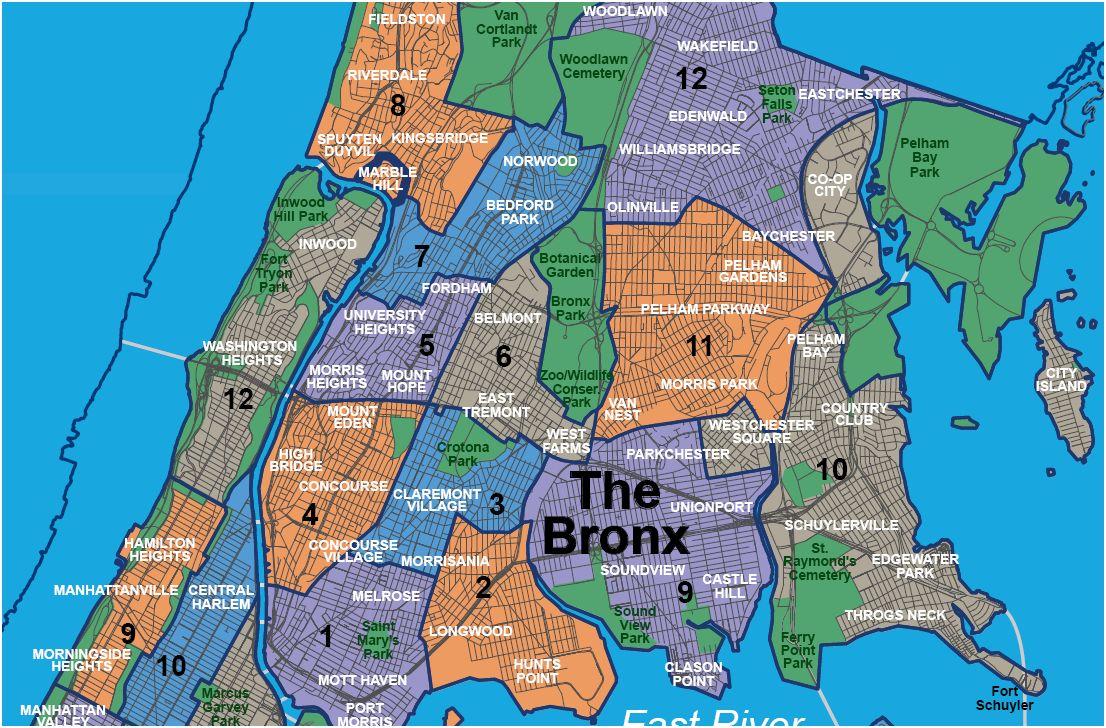 Manhattan Neighborhood Maps  BluClovercom